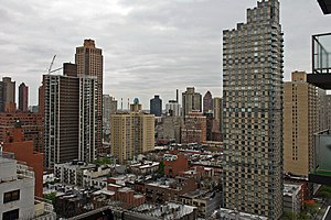 Yorkville, as seen from a highrise on East 87th Street