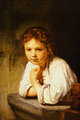 Young Girl at a Window - Rembrandt Harmenszoon van Rijn.png