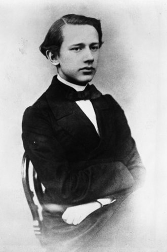 Pyotr Ilyich Tchaikovsky - Tchaikovsky as a student at the Moscow Conservatory. Photo, 1863