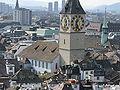 Zürich - St Peter - Sicht vom Grossmünster Karlsturm IMG 6427.JPG