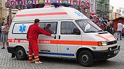 sanitka - auto zdravotnické záchranné služby