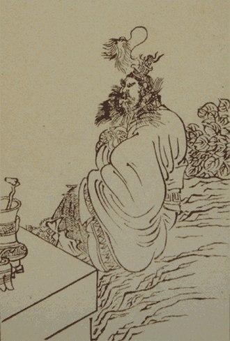 Zhang Daoling - Zhang Daoling, as illustrated by Ren Xiong and engraved by Cai Zhaochu