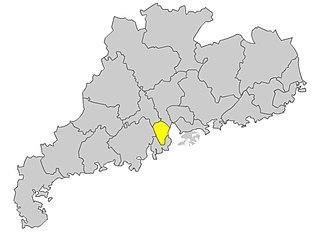 Sanxiang dialect - Image: Zhongshan map 2005
