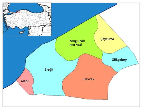 Zonguldak'ın ilçeleri