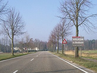 "North Brabant - A sign saying, ""Welcome to Brabant"". North Brabant is often just referred to as ""Brabant""."
