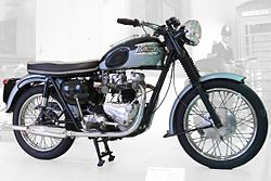 A Triumph Bonneville T120 with