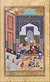 """Laila and Majnun in School"", Folio 129 from a Khamsa (Quintet) of Nizami MET DT232547.jpg"