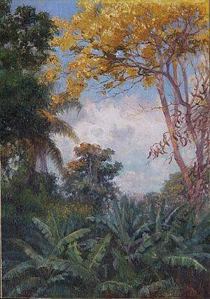 Helen Thomas Dranga - Image: 'View from Makiki' by Carrie Helen Thomas Dranga, oil on board