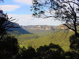 Wolgan Valley small valley in New South Wales