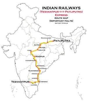 Patliputra Junction railway station - Train 22352/Yesvantpur - Patliputra Express