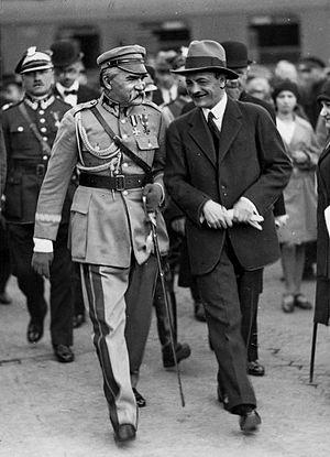 Kazimierz Świtalski - Świtalski with Józef Piłsudski