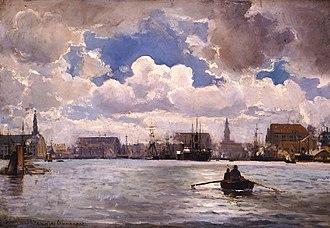 Greek academic art of the 19th century - Image: Αλταμούρας Ιωάννης Το λιμάνι της Κοπεγχάγης