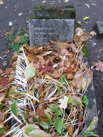 Надгробие Н. И. Познякова на Литераторских мостках