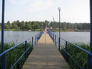 Понтонный мост через реку Донховку. Конаково, Тверская область, Россия..jpg