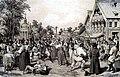 Сельский праздник. Литография Лемерсье. 1840-е.jpg