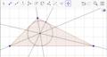 חוצי זוויות במשולש נפגשים במרכז המעגל החסום.png
