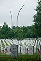 """""""Flags in"""" with The Old Guard in Arlington National Cemetery (17951852141).jpg"""