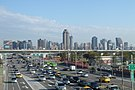 由臺中港路、安和路口天橋 往東看新市政專用區【2015年1月】.JPG