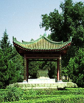 "Huo Qubing - The ""Horse Stomping Xiongnu"" statue at Huo Qubing's tomb"
