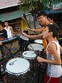 0932jfPedestrian footbridge C-34 Capulong Marcos Road Musicians Tondo Manilafvf.jpg