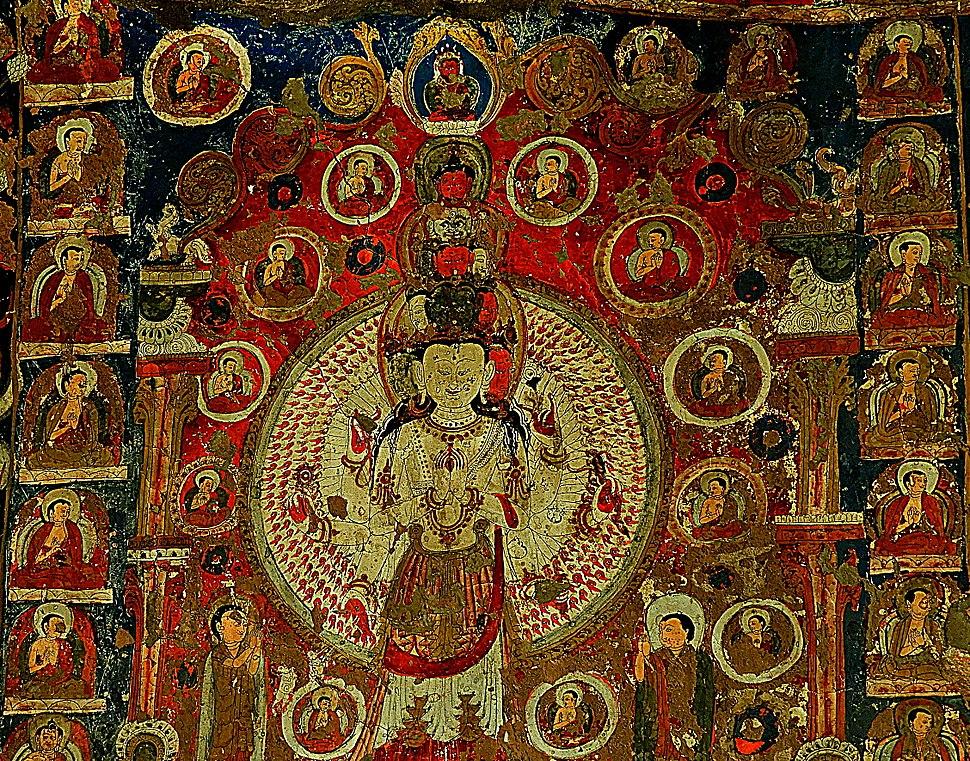 1000 armed Avalokiteshvara at Saspol cave DSCN7053 1