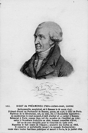 Félix-Julien-Jean Bigot de Préameneu - Image: 100Fi 474 bigot preameneu