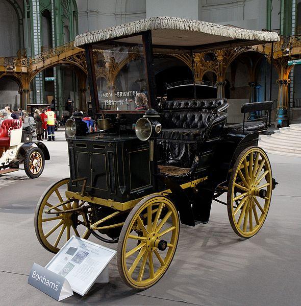 File:110 ans de l'automobile au Grand Palais - Panhard et Levassor Wagonette 2 cylindres - 4 CV - 1896.jpg
