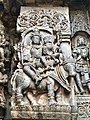 12th-century Shiva and Parvati at Shaivism Hindu temple Hoysaleswara arts Halebidu Karnataka India.jpg