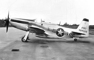 101st Air Refueling Wing - 133d Fighter-Interceptor Squadron F-51 Mustang, AF Ser. No. 44-64356, Ethan Allen AFB, NH, 1953