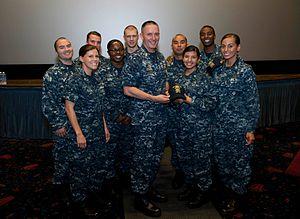 Michael D. Stevens - Image: 150902 N OT964 204 Mike Stevens takes photo with sailors