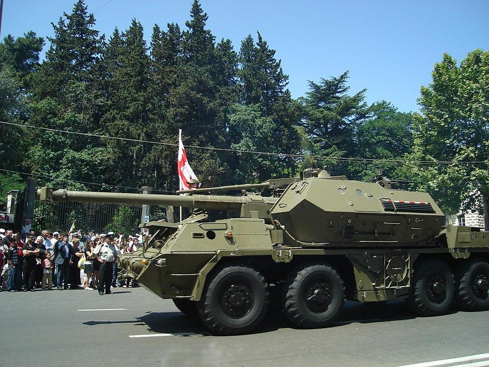 152mm SpGH DANA in Georgia, 2008