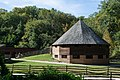 16 sided barn from Slave Cabin 02 - Mount Vernon.jpg