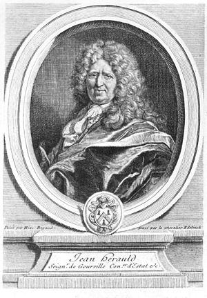 Jean Herauld Gourville - Jean Hérault de Gourville par Gérard Edelinck d'après Hyacinthe Rigaud
