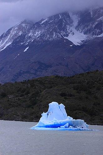 Grey Lake - Image: 177 Torres del Paines Iceberg Janvier 2010