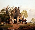 1828 Gauermann Vor der Schmiede anagoria.JPG