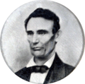 1858 Abraham Lincoln portrait from campaign button.png