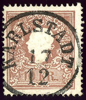 1859 Karlstadt 10kr Ks