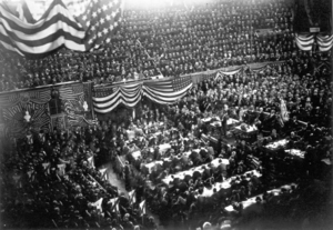 Elihu B. Washburne - 1880 Republican Convention. James A. Garfield (center, right) won the presidential nomination.