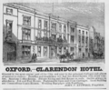 1885 Clarendon Hotel Oxford ad Harpers Handbook for Travellers in Europe.png