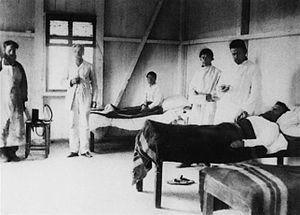 1881–96 cholera pandemic - 1892 Cholera outbreak in Baku. The sickbay where patients with cholera were treated.
