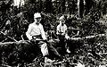 1930. Exposed ponderosa pine top with thermometers in place. Slash temperature studies. Klamath Falls, Oregon. (26445192969).jpg