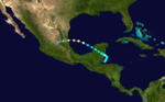 1933 Atlantika uragano 14 track.png