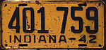 1942 Indiana license plate.JPG