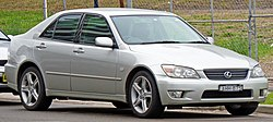 1999–2005 Lexus IS 200 sedan (GXE10R; Australia)