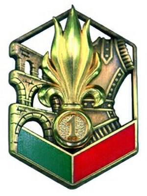 1st Foreign Engineer Regiment - Regimental badge of 1er REG