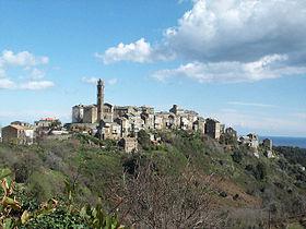 Vue du village de Venzolasca di Casinca en 2002.