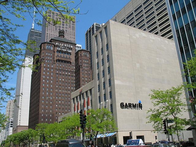 Von 2006 bis 2015 betrieb Garmin ein Einzelhandelsgeschäft in der Michigan Ave. in Chicago.