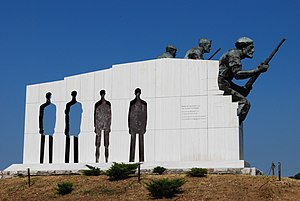 Axis occupation of Greece - Memorial in Distomo for the Distomo massacre.
