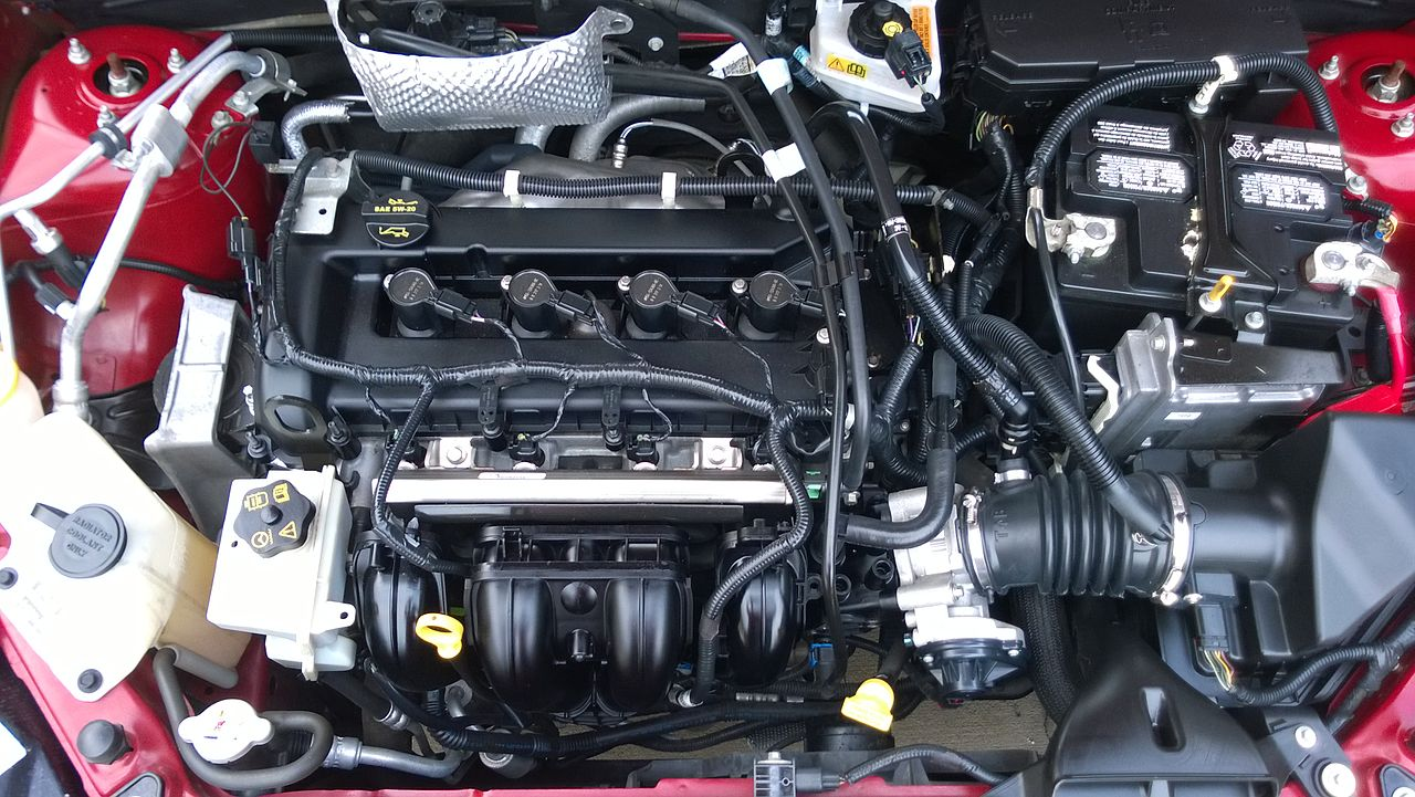 File 2009fordfocusses Coupe Enginebay Jpg Wikipedia