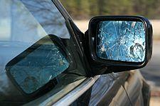2010-03-08 Shattered side mirror on BMW.jpg